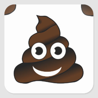 Adesivo Quadrado emoji engraçado do tombadilho