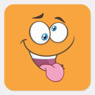 Adesivo Quadrado Emoji quadrado pateta parvo
