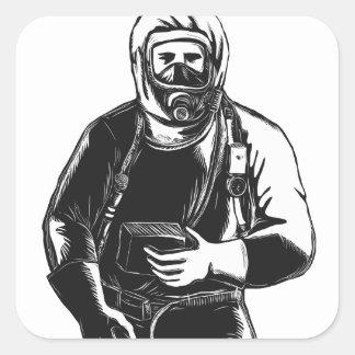 Adesivo Quadrado EMT que veste o terno Scratchboard de Hazmat
