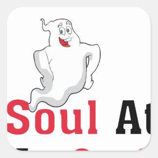 Adesivo Quadrado Encontre sua alma em meu corpo