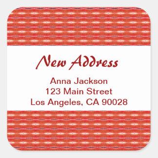 Adesivo Quadrado Endereço novo vermelho