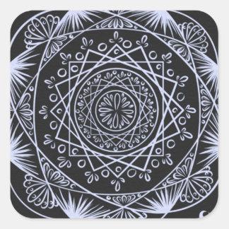 Adesivo Quadrado Enegreça, despertando o teste padrão do zen,