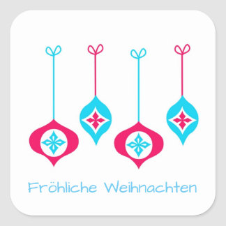 Adesivo Quadrado Enfeites de natal Fröhliche Weihnachten
