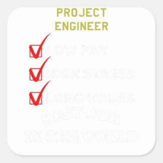 Adesivo Quadrado engenheiro do projeto