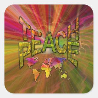 Adesivo Quadrado Ensine a paz