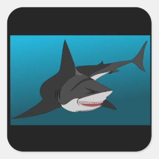Adesivo Quadrado envolvimento do tubarão