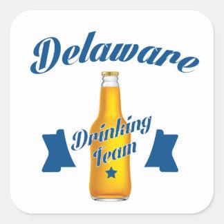 Adesivo Quadrado Equipe do bebendo de Delaware