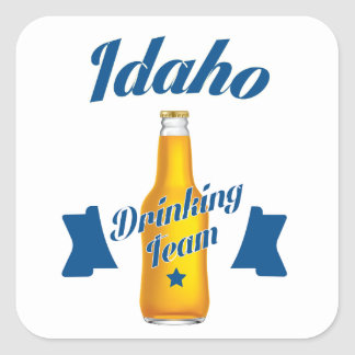 Adesivo Quadrado Equipe do bebendo de Idaho