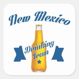 Adesivo Quadrado Equipe do bebendo de New mexico
