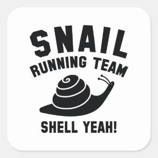 Adesivo Quadrado Equipe Running do caracol