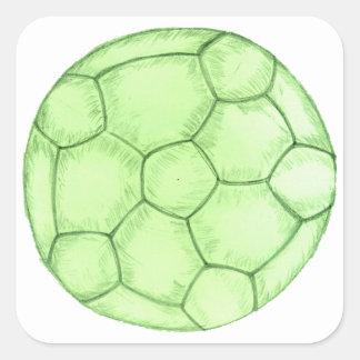 Adesivo Quadrado Esboço 2 da bola de futebol