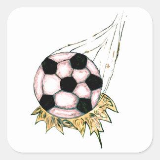 Adesivo Quadrado Esboço da bola de futebol
