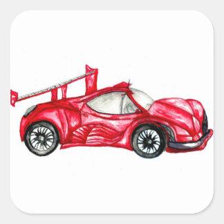 Adesivo Quadrado Esboço do carro desportivo