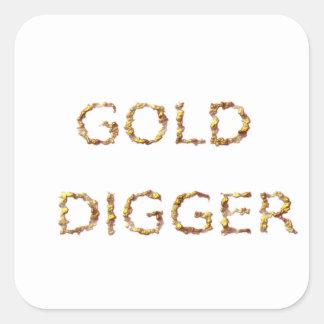 Adesivo Quadrado Escavador de ouro
