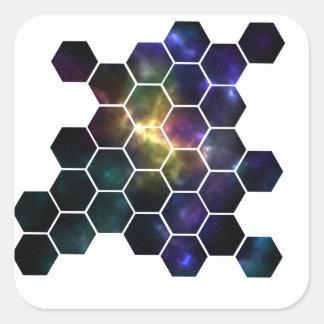 Adesivo Quadrado espaço geométrico