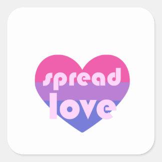 Adesivo Quadrado Espalhe o amor bissexual