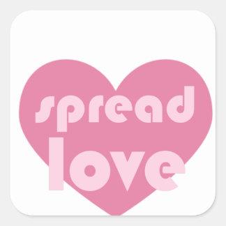 Adesivo Quadrado Espalhe o amor (geral)