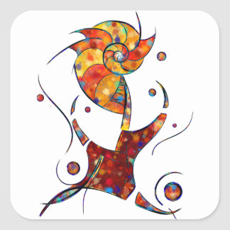 Adesivo Quadrado Espanessua - flor espiral imaginária