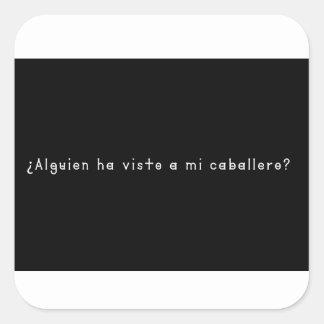 Adesivo Quadrado Espanhol-Cavaleiro