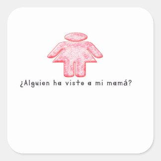 Adesivo Quadrado Espanhol-Momma