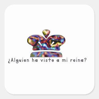 Adesivo Quadrado Espanhol-Rainha