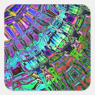 Adesivo Quadrado Espectro abstrato das formas