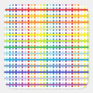 Adesivo Quadrado Espectro e branco mais largos abstratos do