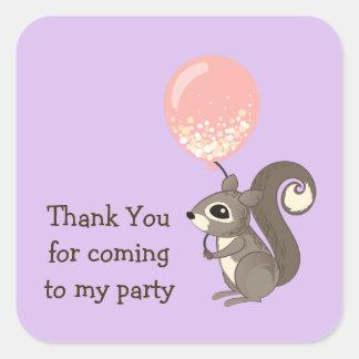 Adesivo Quadrado Esquilo feito sob encomenda do texto com balão