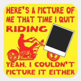 Adesivo Quadrado Está aqui uma imagem de mim que tempo eu paro