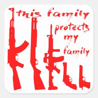 Adesivo Quadrado Esta família protege minha família