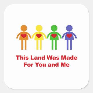 Adesivo Quadrado Esta terra foi feita para você e mim