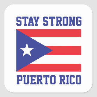Adesivo Quadrado Estada Puerto Rico forte