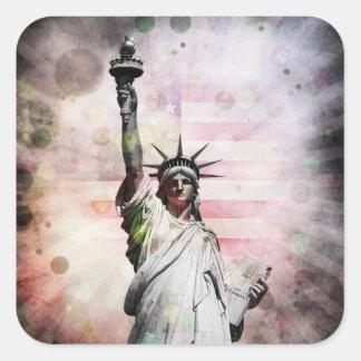 Adesivo Quadrado Estátua da liberdade