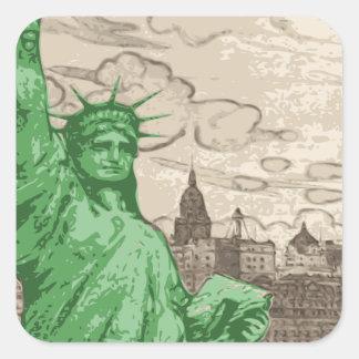 Adesivo Quadrado Estátua da liberdade clássica