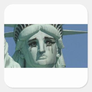 Adesivo Quadrado Estátua da liberdade de grito