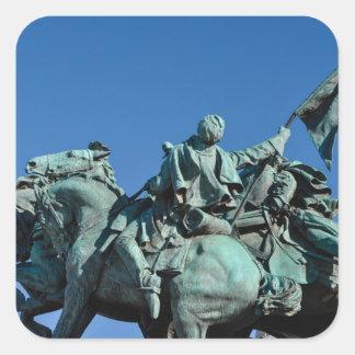 Adesivo Quadrado Estátua do soldado da guerra civil em Washington