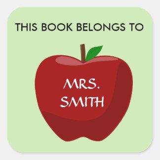 Adesivo Quadrado Este livro pertence a…