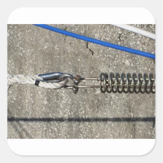 Adesivo Quadrado Estilingue da corda com o grilhão de âncora da