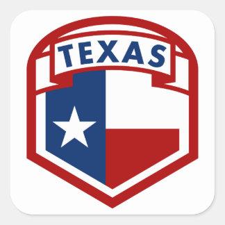 Adesivo Quadrado Estilo do protetor da bandeira de Texas