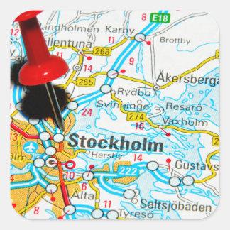 Adesivo Quadrado Éstocolmo, suecia
