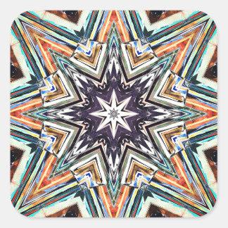 Adesivo Quadrado Estrela Textured colorida