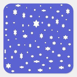 Adesivo Quadrado estrelado-nite