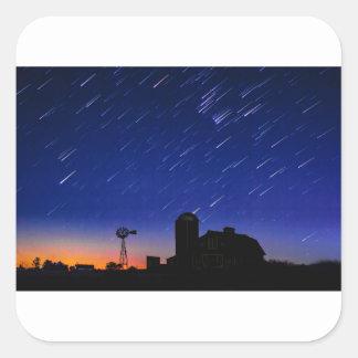 Adesivo Quadrado Estrelas da fazenda
