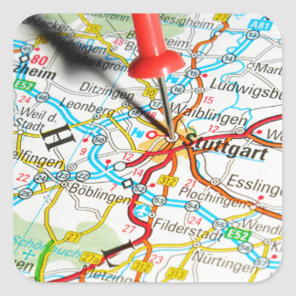 Adesivo Quadrado Estugarda, Alemanha