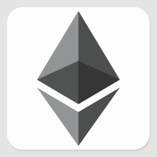 Adesivo Quadrado Ethereum - Cryptocurrency PAC super