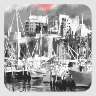 Adesivo Quadrado Eu amo Hobart