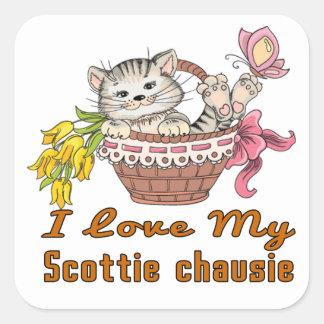 Adesivo Quadrado Eu amo meu chausie do Scottie