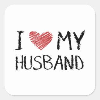 Adesivo Quadrado Eu amo meu marido