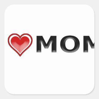 Adesivo Quadrado Eu amo minha mamã
