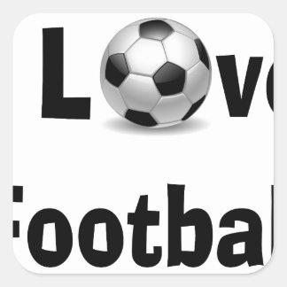Adesivo Quadrado Eu amo o futebol